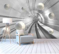 Abstract Tunnel Space Sphere 3d ...