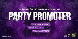 Party Templates Party Promoter Club Music Event Muse Template By Vinyljunkie