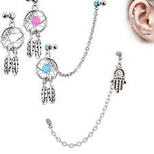Dream Catcher Helix Earring Ear ChainDangle Body Piercing Jewelry eBay 40