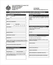 Employment Form Template Employment Form Templates