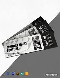 Free Football Invitation Templates Free Sports Ticket Invitation Template Word Psd