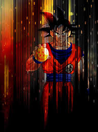 Dragon Ball Z, Red, Lines, Goku ...