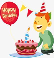 Vector Birthday Cake And Boys Birthday Vector Cake Vector
