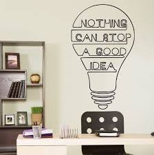 office wall decal. This Office Wall Decal Will Be Perfect Large Decor For Workplace. Great Idea Is Inspiring Quote Your Wall. Make Spe\u2026 A