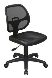 fresh elegant armless desk chairs leather mixing sofa office chair executive large dining table furniture caster
