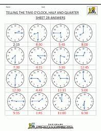 Time Worksheets Kindergarten Hour Telling Free For Math Printable ...