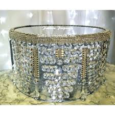bling crystal acrylic cake stand wedding waterfall chandelier gold antique light in