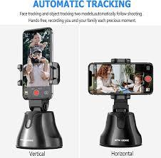 Portable <b>All</b>-in-<b>one Smart</b> Selfie Stick, 360° Rotates <b>Auto</b> Face