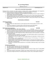 Real Estate Investor Resume Briliant Real Estate Investor Resume Examples Real Estate Investment 1