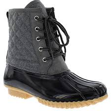 Amazon Com Sporto Womens Delanie Wool Blend Duck Boot Shoes