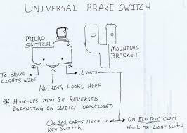 universal 12v brake switch everything carts universal 12v brake switch