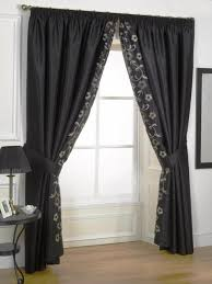 contemporary curtain tie backs with black color and fl motif