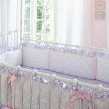 baby lavender crib bedding awesome lilac and silver gray damask crib per with accent strips
