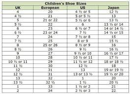 International Children S Shoe Size Chart Kid Shoe Size Chart Conversion Kids