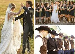 Country Wedding With Mismatched Bridesmaid Dresses  Wedding Country Wedding Style Dresses
