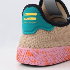 adidas pharrell. following a look at 8 other colorways recently, four more renditions of the pharrell x adidas tennis hu is showcased for summer 2017.