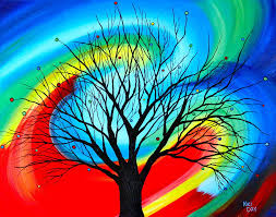 oak abstract tree painting by cevin