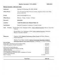 Cover Letter Example Of Medical Assistant Resume Example Of