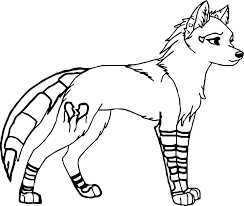 Coloring Pages Of Wolves Best Free Printable Wolf Refrence Anime 9