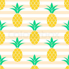 Pineapple Pattern Beauteous Summer Pastel Pineapple Seamless Design Pattern For Bed Linen And