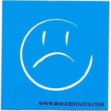 Rogue Status Cursive Moneyshot Sticker 3 Inches X 3 Inches
