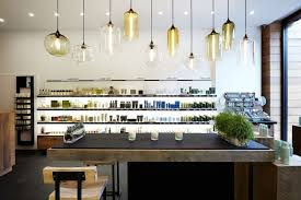 ... Modern Pendant Abstract Lighting Kitchen Design Inspiration With White  Wall And Rectangle Black Lamnated Kitchen Island