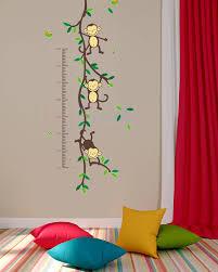 kids monkeys height chart wall art sticker