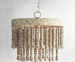 image of new wooden bead light fixture