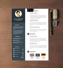 Free Modern Resume To Download Modern Resume Download Creative Template Free Doc Design Format