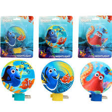 Disney Finding Dory Nemo Octopus Kids Adjustable Night Light Lamp W