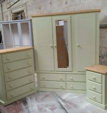 green bedroom furniture. SHAFTESBURY RANGE 3 PIECE BEDROOM SET SAGE GREEN WITH PINE TRIM NO FLAT PACKS Green Bedroom Furniture O