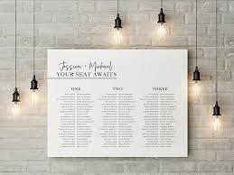 Wedding Seating Plan Chart Wedding Seating Plan Banquet Seating Chart Printable Long