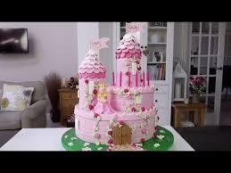 How To Make A Princess Castle Cake Part 1 Youtube