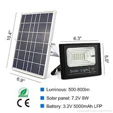 solar powered flood lights outdoor remote control solar light ip67 waterproof dusk to dawn solar security