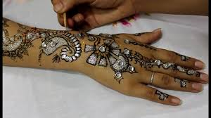 Henna Glitter Designs Glitter Henna Mehndi Designs For Hands Youtube