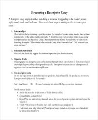 Descriptive Essay Thesis Statement Examples Free 27 Descriptive Essay Examples Samples In Pdf Doc