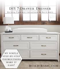 Build A DIY 7 Drawer Dresser Easy To Assemble Dresser R32