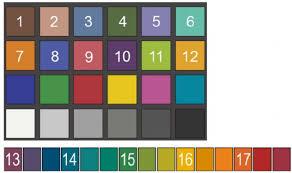 Test Color Samples 1 17 Used In Rcri Top Macbeth Color