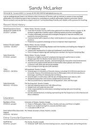 Work History Resume Example Ronhall76