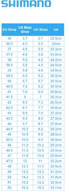 Shimano Shoe Size Chart Shimano Shoe Sizing Chart Shimano Shoe Size Guide