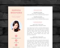 photo resume resume template cv template photo pc mac cover letter instant editable word and pages files