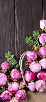 Pink roses, flowers, wood board ...