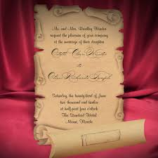 Scroll Wedding Invite Scroll Wedding Invitation Card Medieval Style Old Craft Paper Buy
