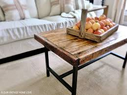 Floor Tables Our Vintage Home Love Salvaged Bowling Alley Floor Table