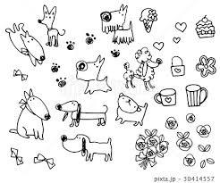 かわいい犬のボールペンイラストのイラスト素材 30414557 Pixta