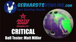 roto grip bowling balls. gebhardt\u0027s bowling ball review - roto grip critical balls
