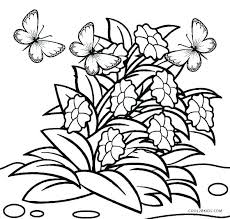 Pictures Of Flowers Coloring Pages Pretty Flowers Coloring Pages
