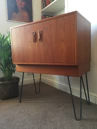 1960s Record Cabinet 1960s G Plan Teak Record Cabinet On Hairpin Legs