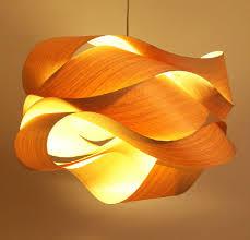 wood veneer lighting. new chinese southeast asian style wooden wave veneer chandelier personality creative lamp restaurants light wood lighting e