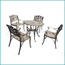 Furniture Wrought Iron Armchairs With Round Table Used Patio